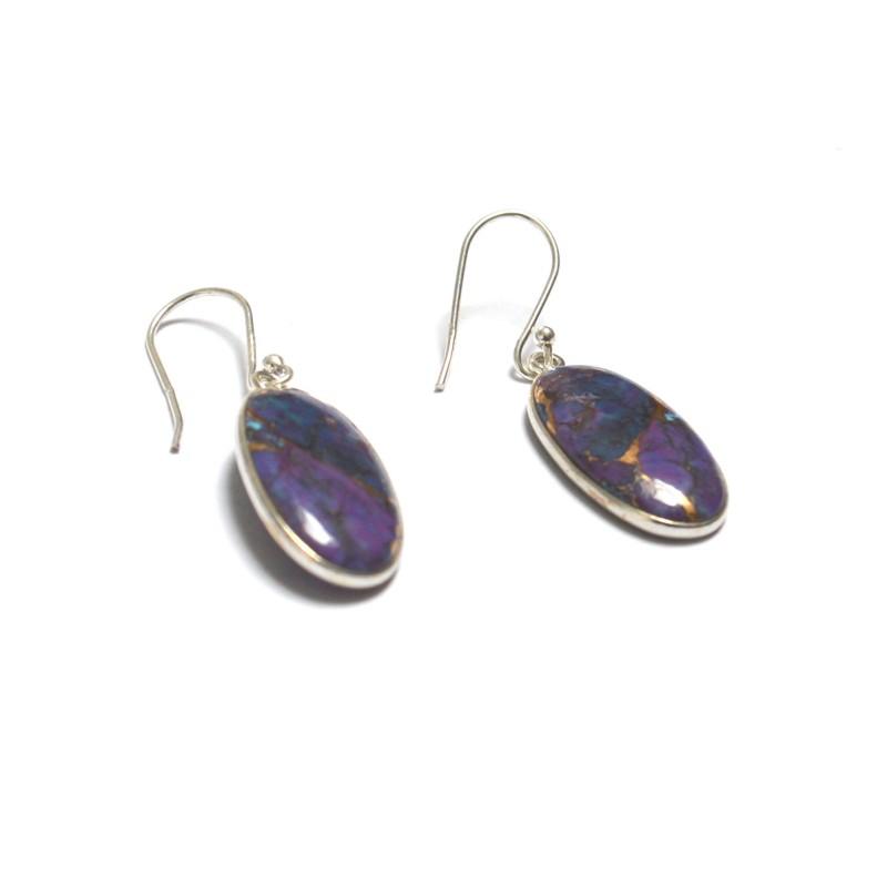 cercei argint turcoaz cupru violet