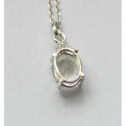 pandantiv argint morganit diamant