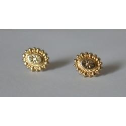 cercei aur cu diamante