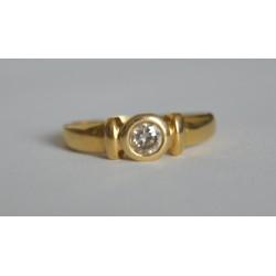 inel aur diamant solitar