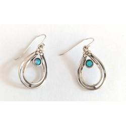 cercei argint cu opal