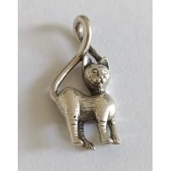 pandantiv argint pisica