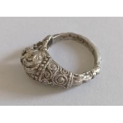 inel argint China veche
