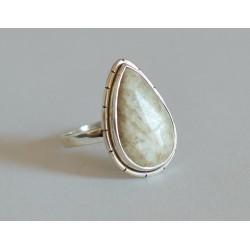 inel argint turcoaz alb