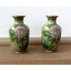 set vaze cloisonne