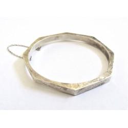 Bratara argint octogonala