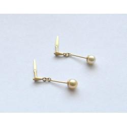 cercei aur cu perla