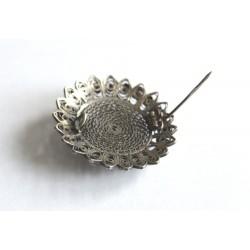 brosa veche argint cu piatra soarelui