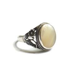 inel argint cu sidef