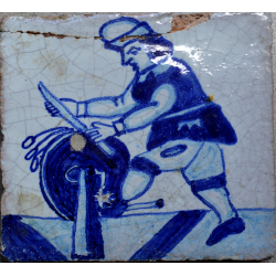 faianta portugheza veche azulejos secol 18
