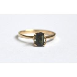 inel aur 14k cu turmalina