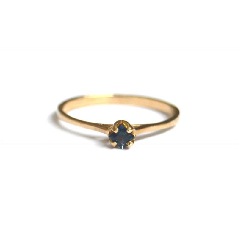 inel aur 14k cu safir