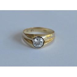 inel aur cu diamant solitar 0.7ct