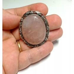 brosa veche argint cuart roz rainbow