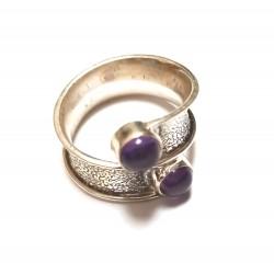 inel argint cu ametist cabochon