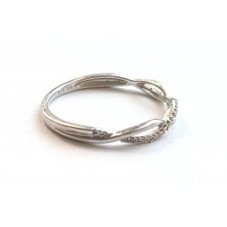 inel argint cu diamante