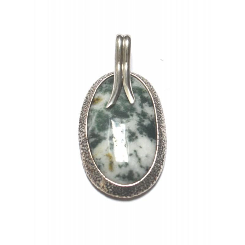 pandantiv argint cu agat moss