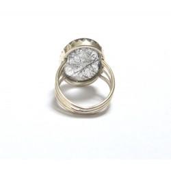inel argint cuart turmalinat